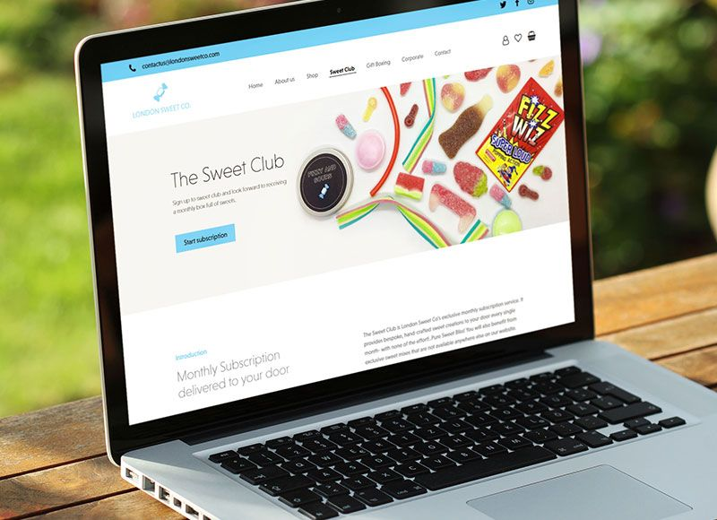 London Sweet Co. WooCommerce