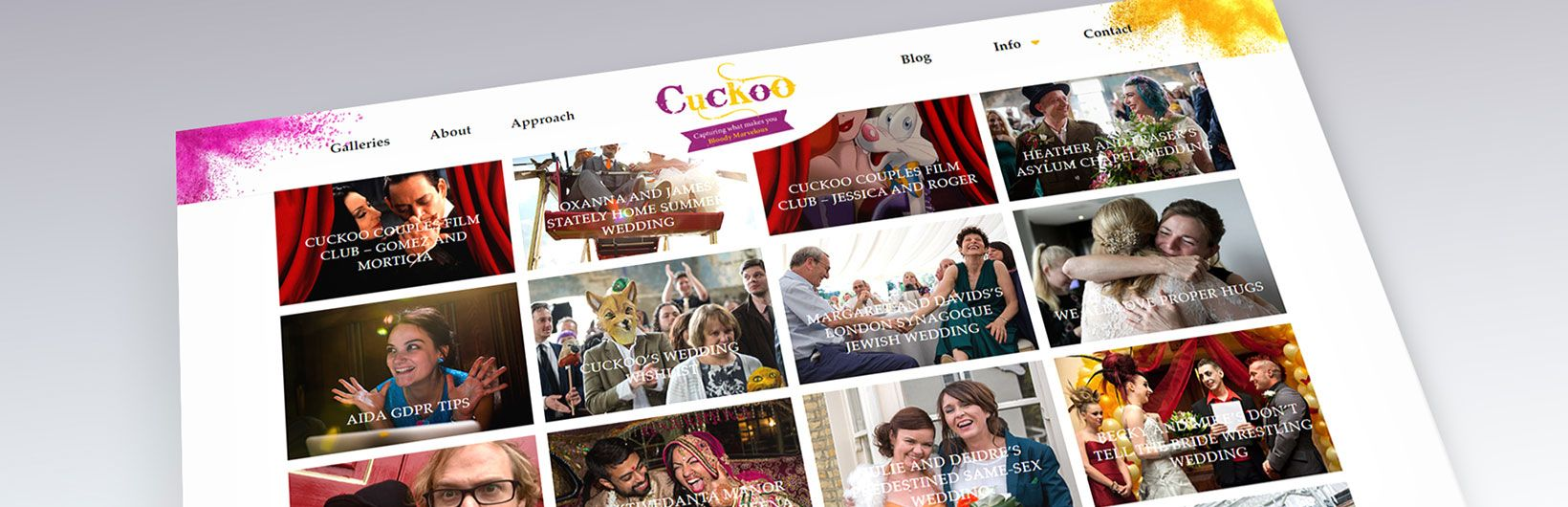 Cuckoo Wedding Photography WordPress Website
