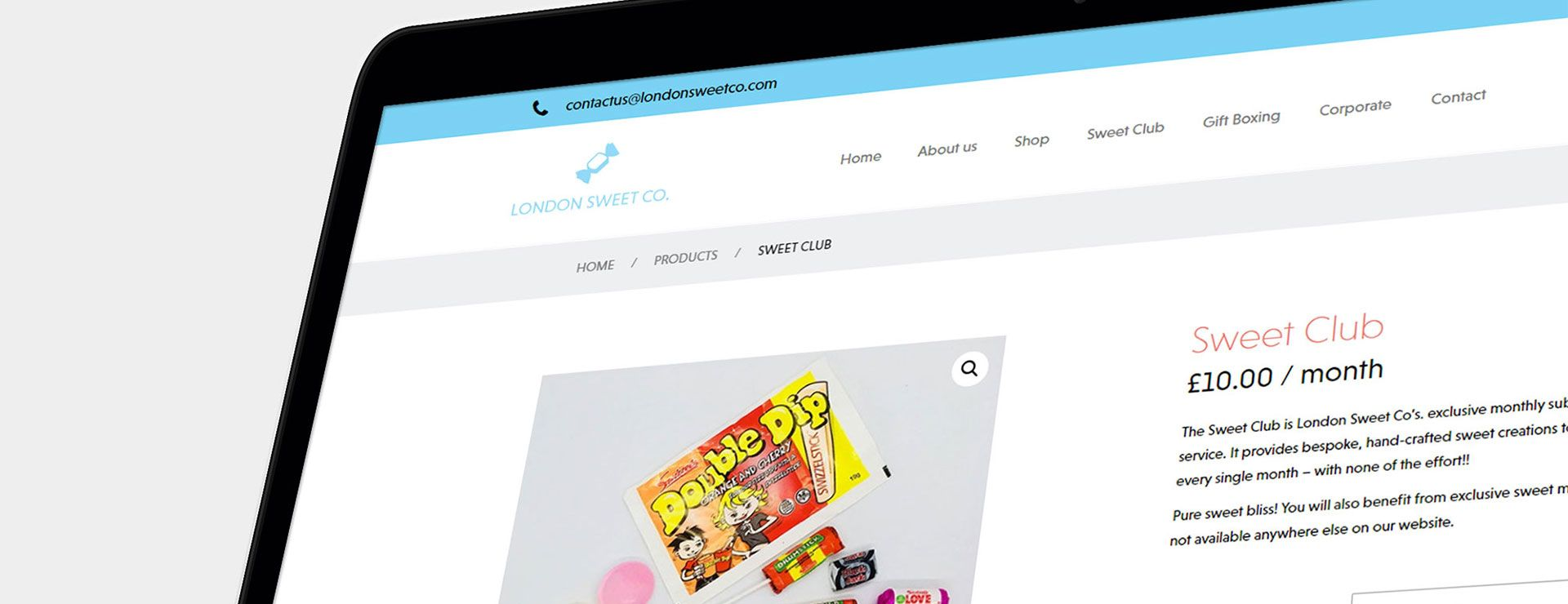 London Sweet Co. Website