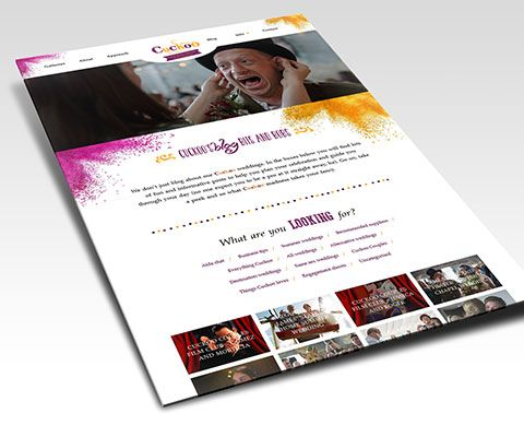 Cuckoo Wedding Photography Website Design
