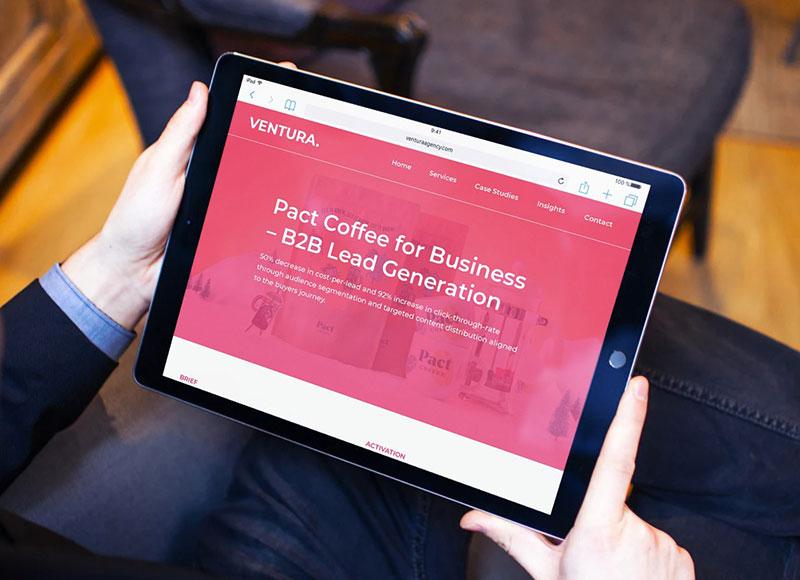 Web Design Case Study - Ventura Agency