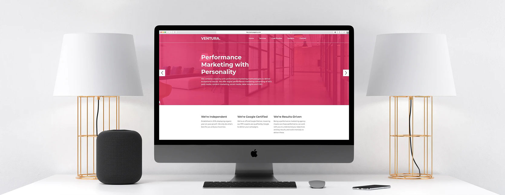 Web Design Case Study - Ventura Agency
