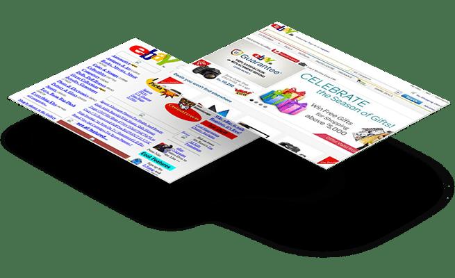 Website Design - 20 year challenge - eBay
