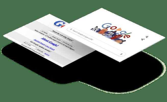 Website Design - 20 year challenge - Google